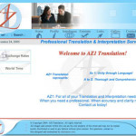 Initial design for az1.com translation services site