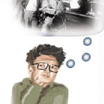 Drawing to accompany magazine piece on Kim Il Sun