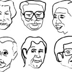 Drawings to accompany magazine piece on G8 summit