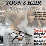 Korean hair salon ad for print